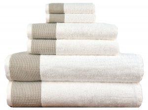 Lunasidus Venice 100-percent Luxury Turkish Combed Cotton Jacquard 6-Piece Towel Set